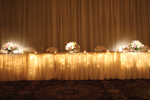 Head Table Lighting Party Pleasers